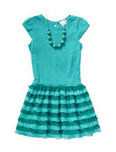 Youngland Tutu Dress with Necklace - Girls 4-6x