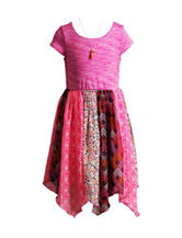 Youngland Multicolor Handkerchief Dress - Toddlers & Girls 4-6x
