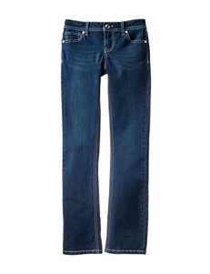 Almost Famous Dark Wash Embellished Bootcut Jeans – Girls 7-16