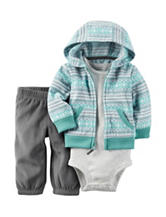 Carter's® Striped Print Cardigan Set - Baby 0-12 Mos.