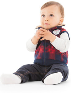Carter's® Buffalo Plaid Print Vest & Jeans Set - Baby 0-12 Mos.