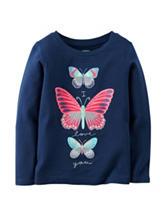 Carter's® Navy Butterfly Print T-shirt– Girls 4-8