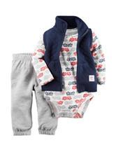 Carter's® 3-pc. Fire Truck Fleece Vest Set – Baby 0-18 Mos.
