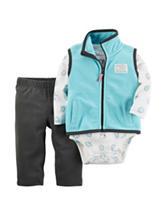 Carter's® 3-pc. Bear Print Bodysuit & Pants Set - Baby 0-18 Mos.