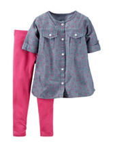 Carter's® 2-pc. Chambray & Floral Print Leggings Set – Toddler Girls