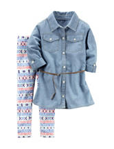Carter's® 2-pc. Chambray Printed Leggings Set – Girls 4-8
