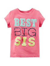 Carter's® Pink Best Big Sis T-shirt– Toddler Girls