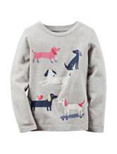 Carter's® Heather Grey Dog Print Shirt – Toddler Girls