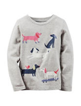 Carter's® Heather Grey Dog Print Shirt – Girls 4-8