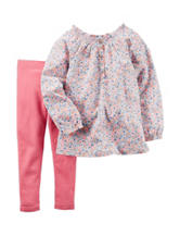 Carter's® 2-pc. Ditsy Floral Print Top & Leggings Set - Toddler Girls