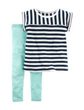 Carter's® 2-pc. Striped Top & Leggings Set – Toddler Girls