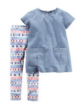 Carter's® 2-pc. Chambray Top & Legging Set – Toddler Girls