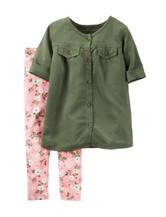 Carter's® 2-pc. Pink Floral Print Leggings Set – Toddler Girls