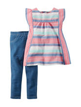 Carter's® Striped Top & Leggings Set – Toddler Girls