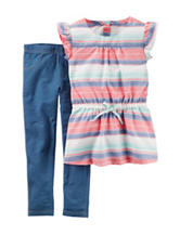 Carter's® 2-pc. Striped Top & Jeggings Set – Girls 4-8