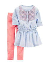 Carter's® 2-pc. Pinstripe Top & Leggings Set – Girls 4-8