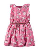 Carter's® Bird Print Woven Dress – Toddler Girls