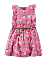 Carter's® Bird Print Belted Dress –Girls 4-8