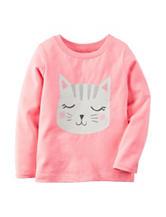Carter's® Pink Cat Face T-shirt – Toddler Girls