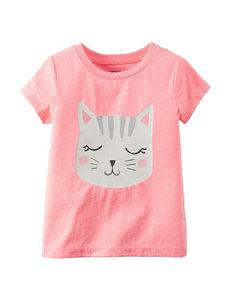 Carter's® Pink Cat Face T-shirt – Girls 4-8