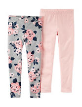 Carter's® 2-pk. Floral Print Leggings  – Toddler Girls
