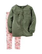Carter's® 2-pc. Top & Floral Print Leggings Set - Toddler Girls