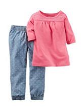 Carter's® 2-pc. Crochet Top & Chambray Pants Set – Toddler Girls