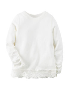 Carter's® Ivory Lace Knit Top – Girls 4-8