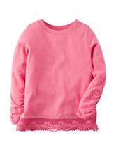 Carter's® Pink Lace Knit Top – Toddler Girls