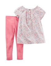 Carters® 2-pc. Floral Print Top & Pink Leggings Set - Toddler Girls