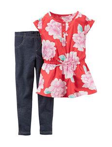 Carter's® 2-pc. Floral Print Top & Jeggings Set – Girls 4-8