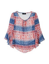 Amy Byer Chiffon Top - Girls 4-6x