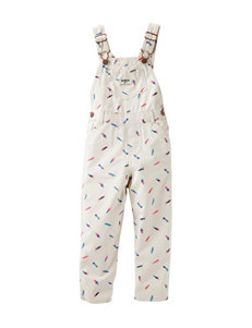 OshKosh B'gosh® Feather Print Overalls - Baby 3-24 Mos.