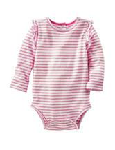 OshKosh B'gosh® Pink & White Stripe Print Bodysuit - Baby 3-24 Mos.