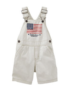 OshKosh B'gosh® Flag Shortalls - Toddler Boys