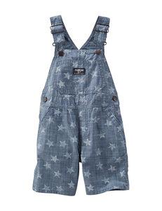 OshKosh B'gosh® Star Print Shortalls - Toddler Boys