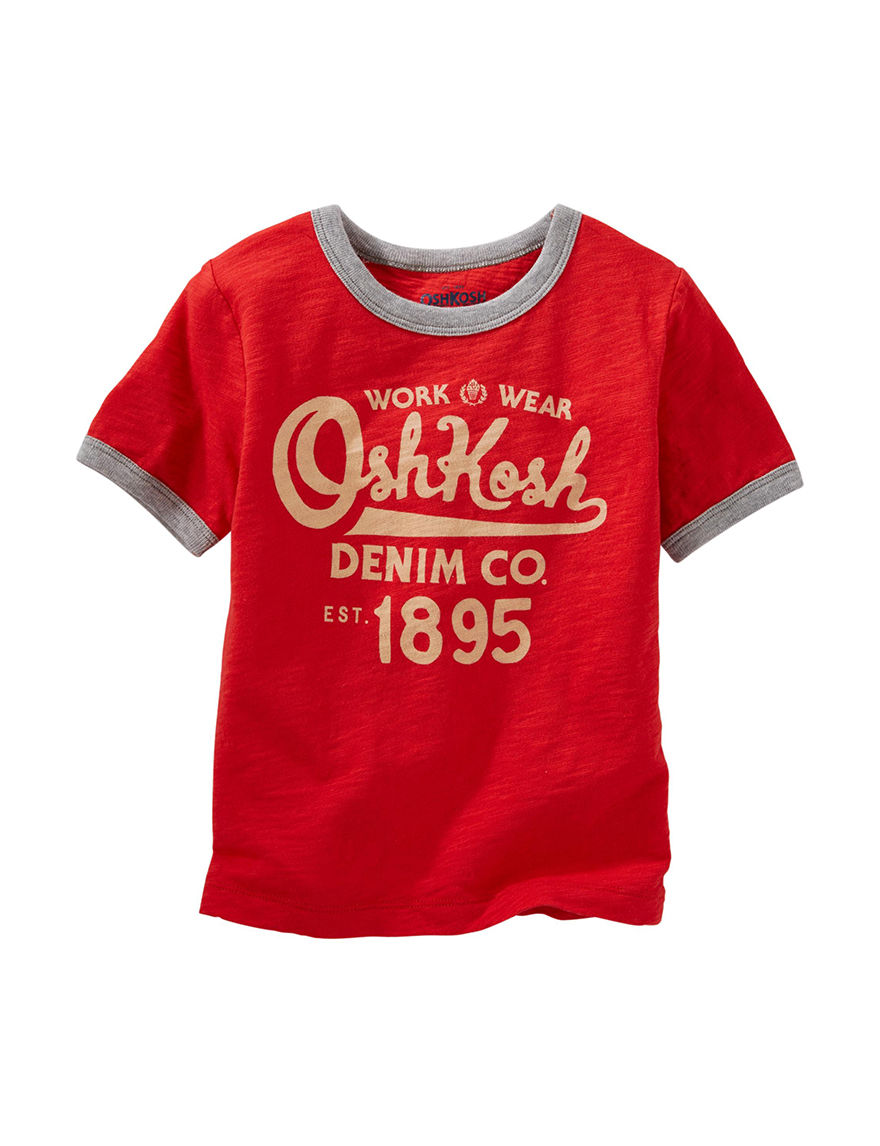 Oshkosh B'Gosh Red Tees & Tanks