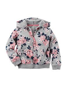 Carter's® Floral Print Full Zip Hoodie – Girls 4-8