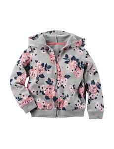 Carter's® Floral Print Full Zip Hoodie – Toddler Girls