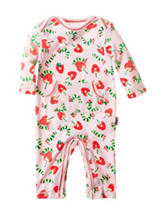 Eric Carle Strawberry Print Coverall - Baby 0-9 Mos.