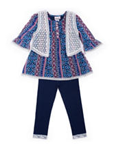 Little Lass Crochet Vest Jeggings Set - Toddlers & Girls 4-6x