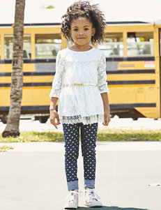 Little Lass Mesh Lace Jeggings Set - Toddlers & Girls 4-6x