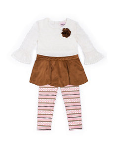 Little Lass Lace Top & Leggings Set - Toddlers & Girls 4-6x