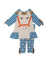 Rare Editions Horse Top & Aztec Print Legging Set - Baby 6-24 Mos.
