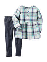 Carter's® 2-pc. Plaid Woven Top & Jeggings Set - Baby 12-24 Mos.