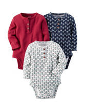 Carter's® 3-pk. Mini Leaves Bodysuit Set – Baby 0-24 Mos.