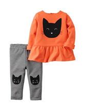 Carter's® 2-pc. Halloween Black Cat Legging Set - Baby 0-12 Mos.