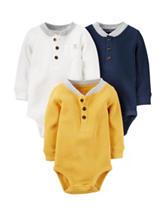 Carter's® 3-pk. Henley Bodysuits - Baby 0-24 Mos.