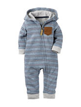 Carter's® Striped Print Hoodie Coverall - Baby 0-24 Mos.
