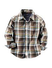 Carter's® Poplin Plaid Woven Shirt - Toddler Boys